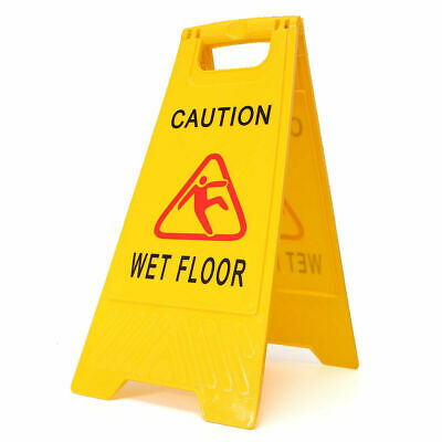 CAUTION WET FLOOR Sign Cleaning in Progress Yellow Warning Cone Safety Hazard UK