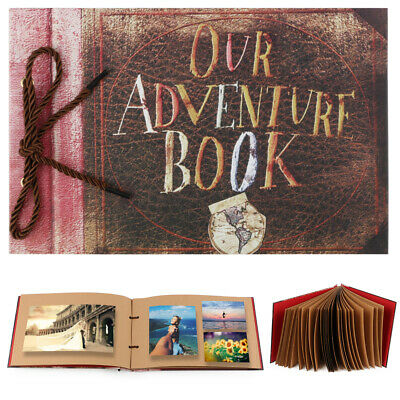 DIY Memory Photo Album Our Adventure Book Vintage Anniversary Scrapbook