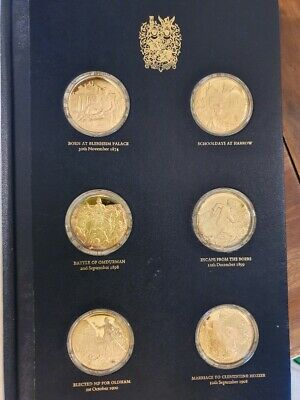 THE CHURCHILL CENTENARY MEDALS - 24x SILVER GOLD PLATED MEDALS