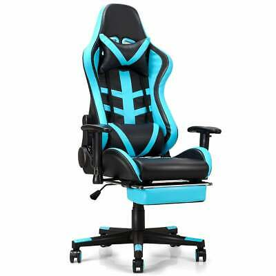 Costway Gaming Chair High Back Racing Recliner Office Chair W Lumbar Support