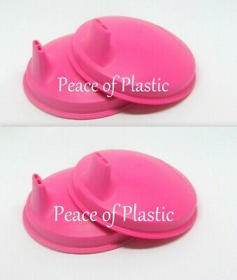 Tupperware New Kids Toddlers Pink Domed Sippy SIPPER Cup Lids Seals Set of 4