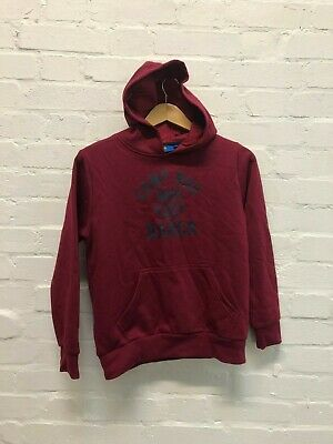FC Barcelona Official Kid's Club Camp Nou Hoodie - Large Boys - Claret - New