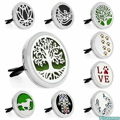 35MMCar Air Vent Clip Aromatherapy Essential Diffuser Steel Freshener  Fragrance