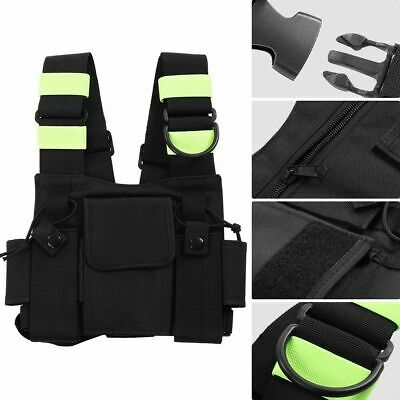 Universal Two Way Radio Walkie Talkie Vest  Backpack Pocket Chest Harness Pouch