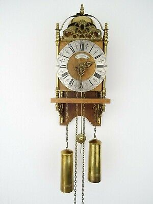 Warmink WUBA Dutch Lantern Wall Clock Antique Vintage (Zaanse Hermle Era)