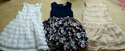3x Girls Age 4-5 Years Party Sleeveless Dresses Gap, H&M Spring/Summer