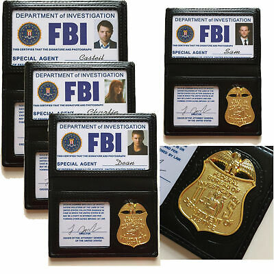 Winchester FBI Badge Card Holder Wallet Police Id Cardcosplay Role Playing Prop