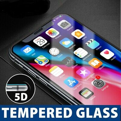 For Apple iPhone 8 Plus 5D Full Coverage Tempered Glass Film 9H Screen Protector