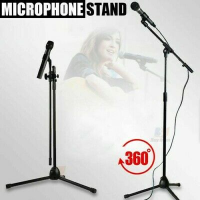 New Professional Boom Microphone Mic Stand Holder Adjustable With Free Clips Uk