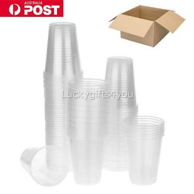 Disposable Plastic Cups Clear Reusable Drinking Water Cup Party 200ml Bulk H