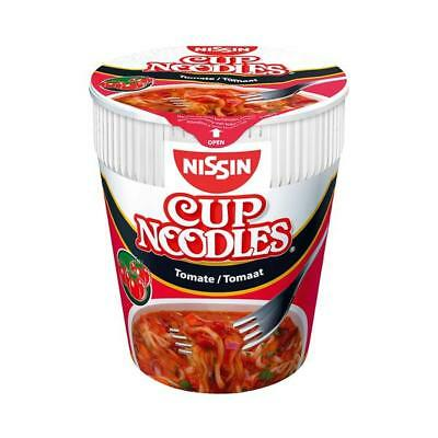 24 Becher Nissin Cup Nudeln Tomate a 67g Japan Noodles