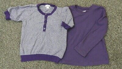 Set of 2 Purple Tops Girls Mila Blue and LOGG Age 4-5 Years
