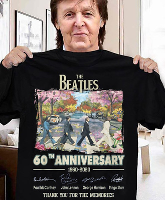 60th Anniversary The Beatles 1960-2020 Signature Thanks Memories Shirt