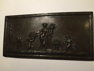 Antique/Vintage, Very rare relief plaque. Bronze look. Mythological scene