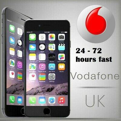 FAST UNLOCK SERVICE FOR iPhone 3GS 4 4S 5 5S SE 6 6+ 6S+ 7 7+ 8 8+ Vodafone UK