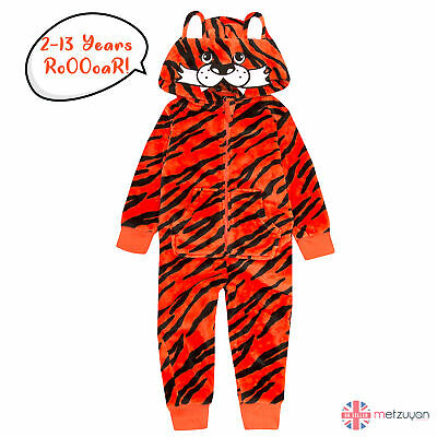 1Onesie Children Infant Kids Tiger Onezee Jumpsuit All In One Playsuit 2-13 Yrs