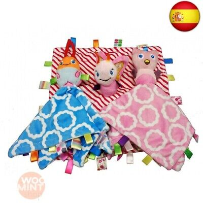 Taggies Animal Character Mantas ? Baby Lovey Comforter Lovely Toys con lazo