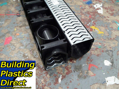 Heavy Duty A15 Galvanized Channel Drainage Grating 1 metre 1m Length