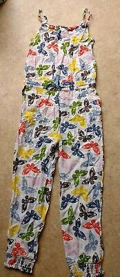 Girls Mini Boden Age 9-10 Years Butterfly Print Summer Strappy Playsuit Trousers
