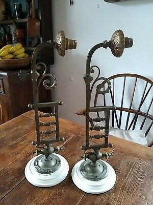 A Gorgeous Pair Of Edwardian Brass Wall Lights To Restore