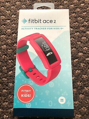 Fitbit Ace 2 Fitness Activity Tracker for Kids, Watermelon/Teal, Parent/Kid Mode