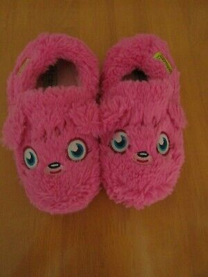 Next Fluffy Furry Pink Poppet Moshi Monsters Slippers - Size 13