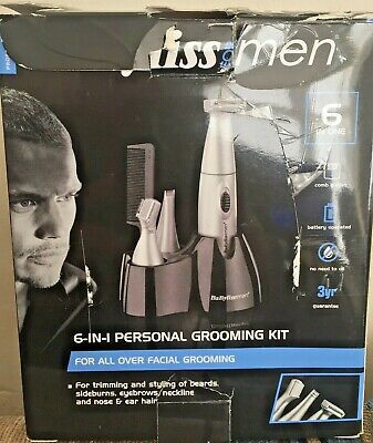Babyliss 7040CU 6-In-1 Personal Precision Facial Grooming Kit For Men