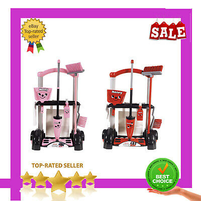 Henry Hetty Cleaning Trolley Vacuum Cleaner Hoover Kids Fun Role Play Toy Gift