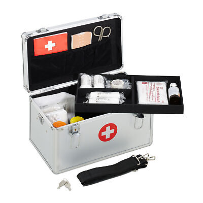 First Aid Case Aluminium Medic Kit Carry Case Emergency Case