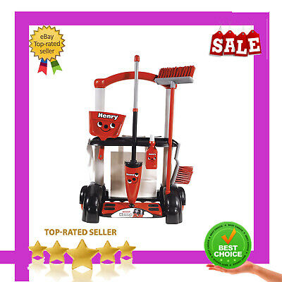 Red Henry Cleaning Trolley Vacuum Cleaner Hoover Kids Fun Role Play Toy Gift!