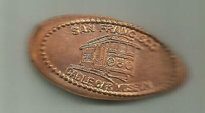Copper elongated penny (cent) CABLE CAR MUSEUM San Francisco CA RETIRED DIE