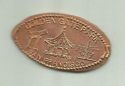 Copper elongated penny (cent) GOLDEN GATE TOUR BUS STOP San Francisco CA Retired