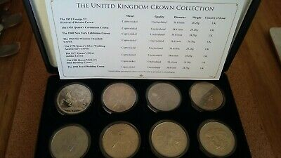 The United Kingdom Silver Crown Coins Collection - UNCIRCULATED LIMITED EDITION
