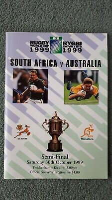 Rugby World Cup 1999 South Africa vs Australia Semi Final Programme