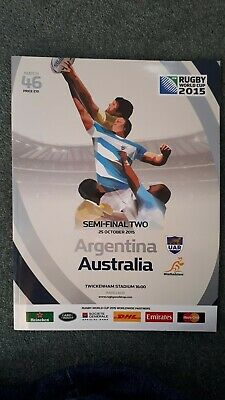 Rugby World Cup 2015 Semi Final Argentina vs Australia Programme