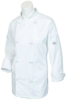 Mercer Renaissance Cutlery Women's Chef Coat (Scoop Neck) | White, 3XL
