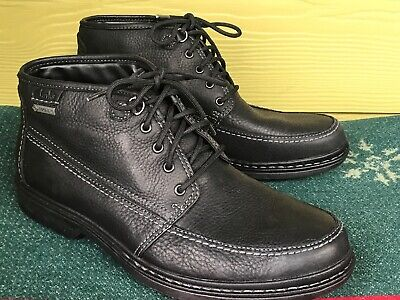 Mens 11.5 M Clarks Active Air Gore-Tex Black Leather Ankle Boots