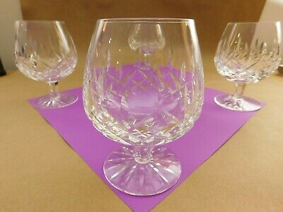 Set Of 4 Waterford Cut Crystal Lismore Brandy Snifter Glasses