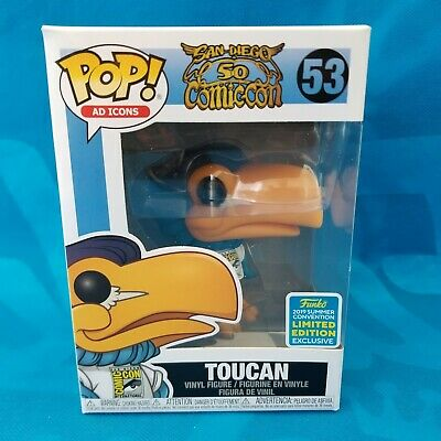 New! Sdcc 2019 Funko Pop! Shared Exclusive Limited Edition Toucan Vinyl Figure