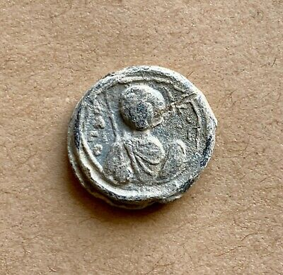 Byzantine lead seal/siegel of Leo Ataliotes, notarios and strategos (11th c.).