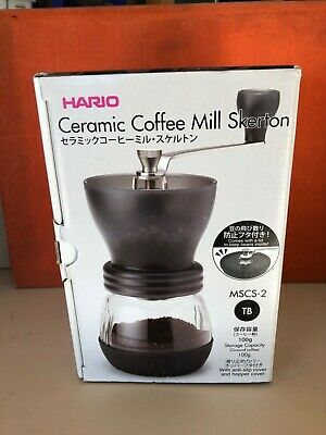 Brand New Hario MSCS 2TB Ceramic Coffee Hand Mill Cafe Skerton Grinder