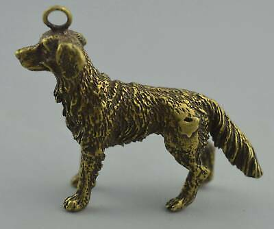 China Collectable Handwork Decor Copper Carve Mighty Wolfhound Exorcism Pendant