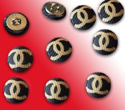 Chanel Style Black Buttons CraftsGiftChristmas Party set of 10 pieces. 15mm.