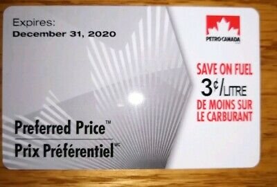 Petro Canada Preferred Price Card 3 cents off 500 Liters
