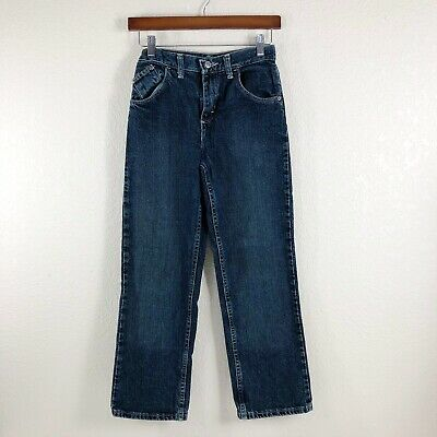 Wrangler Boy Jeans Denim Blue Straight Leg Regular Boys Size 12 Years