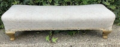 Vintage Small Long Footstool ~ French Style Shabby Chic