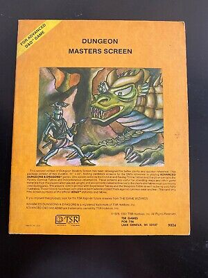 Advanced Dungeons & Dragons Dungeon Masters Screen, 5th Printing, 1981