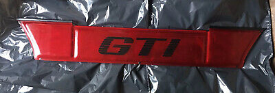 Vw Golf Mk2 Gti - Plaque Arriere Decorative - Neuve