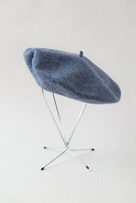 Vintage Basque DeLuxe blue wool beret hat CZECH REPUBLIC