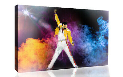 Freddie Mercury Abstract Modern Canvas Wall Art Picture Print